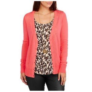 4/$25 Coral cardigan